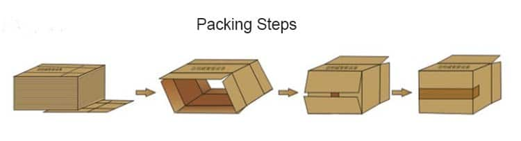 packing step for case erector