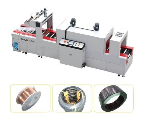Fully-auto-Sleeve-Sealer-Shrink-Tunnel-For-Round-Wire