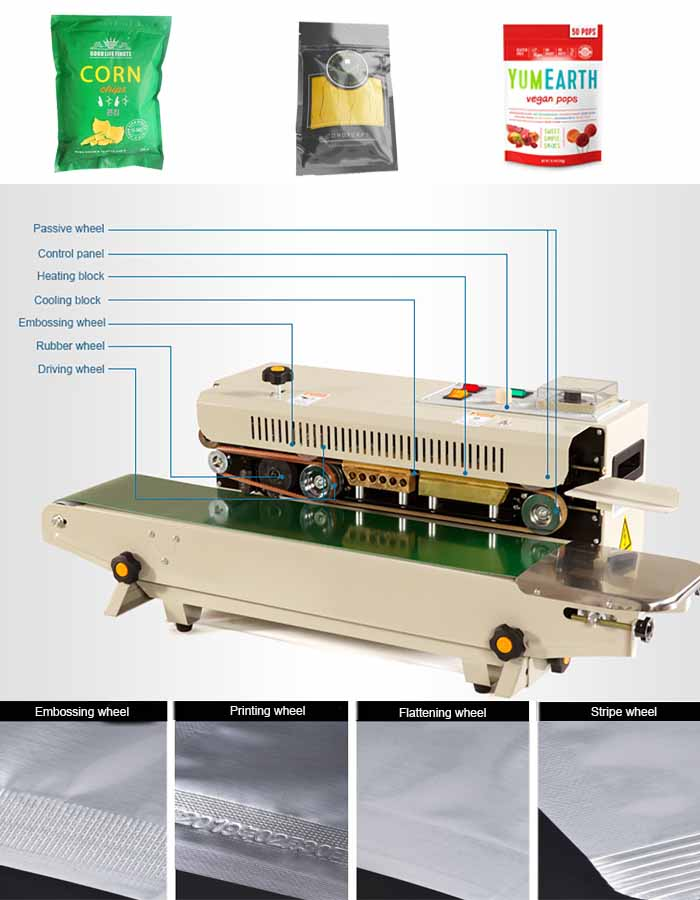 details for horizontal band sealer