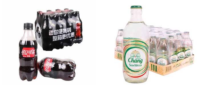 Beverage bottle shrink packing machine