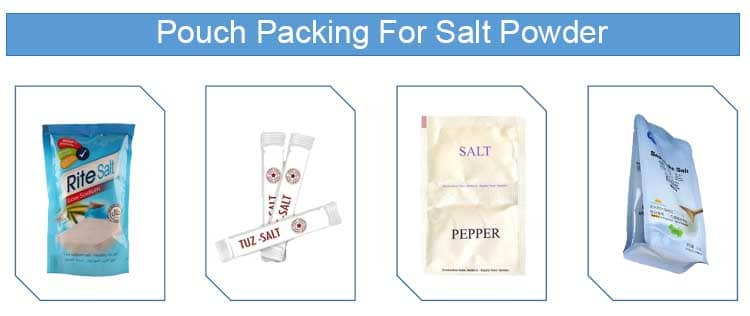 Pouch Packing For Salt Powder