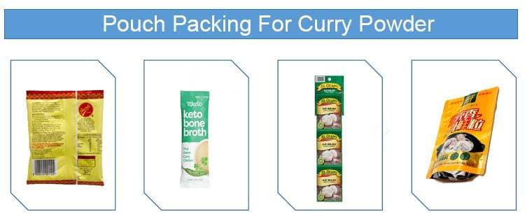 curry powder pouch sachet packing machine