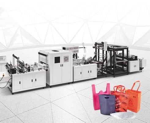 ST-E700 Three-dimensional ironing handle non-woven bag making machine