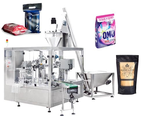 premade pouch rotary filling and packing machine