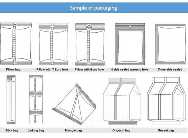 sample of packaging